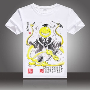 Anime Assassination Classroom Cosplay  t-shirt Korosensei  Shiota Nagisa men tshirt  ink painting Tees Tops