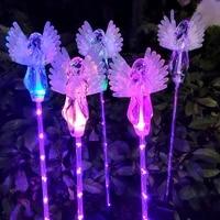 solar light led little angel lawn lamp outdoor waterproof garden courtyard park path corridor lawn decorative lighting 12pcs