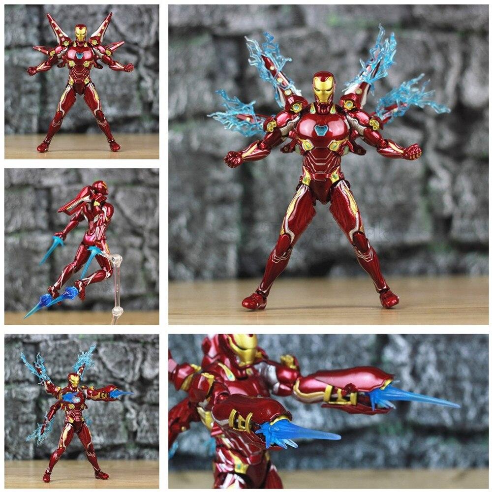 """Marvel 6 """"Iron Man MK50 Nano Conjunto de Armas 2 figura de acción marca Ironman 50 85 SHF vengadores leyendas Endgame Infinity War juguetes muñeca"""