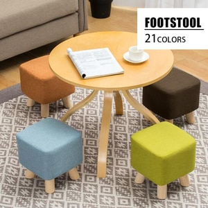 Simple Round Stool Enfants Footstool Ottomans Nordic Square Pouf Wooden Stool For Home Decor Kids Low Chair