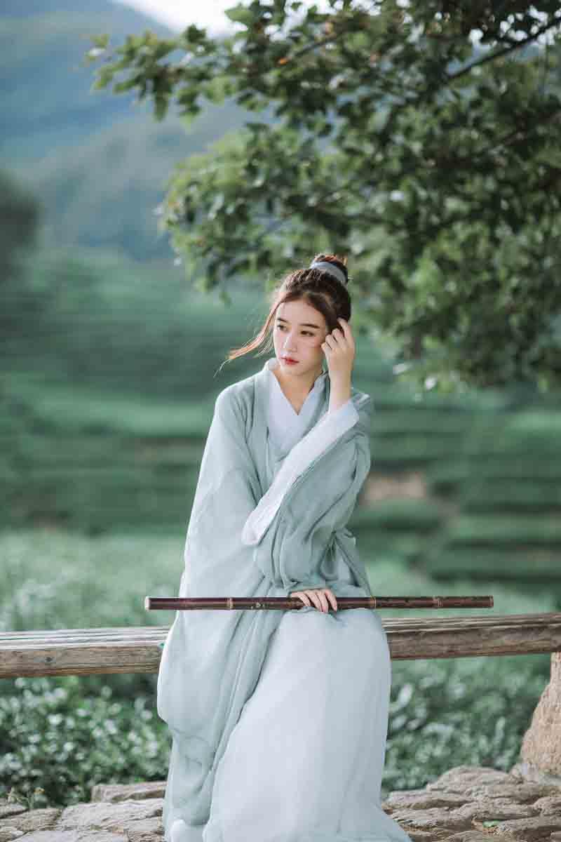فستان Hanfu الصيني التقليدي للنساء ، فستان صيفي فانتازيا نسائي ، زي Hanfu عتيق ، مقاس كبير 2XL