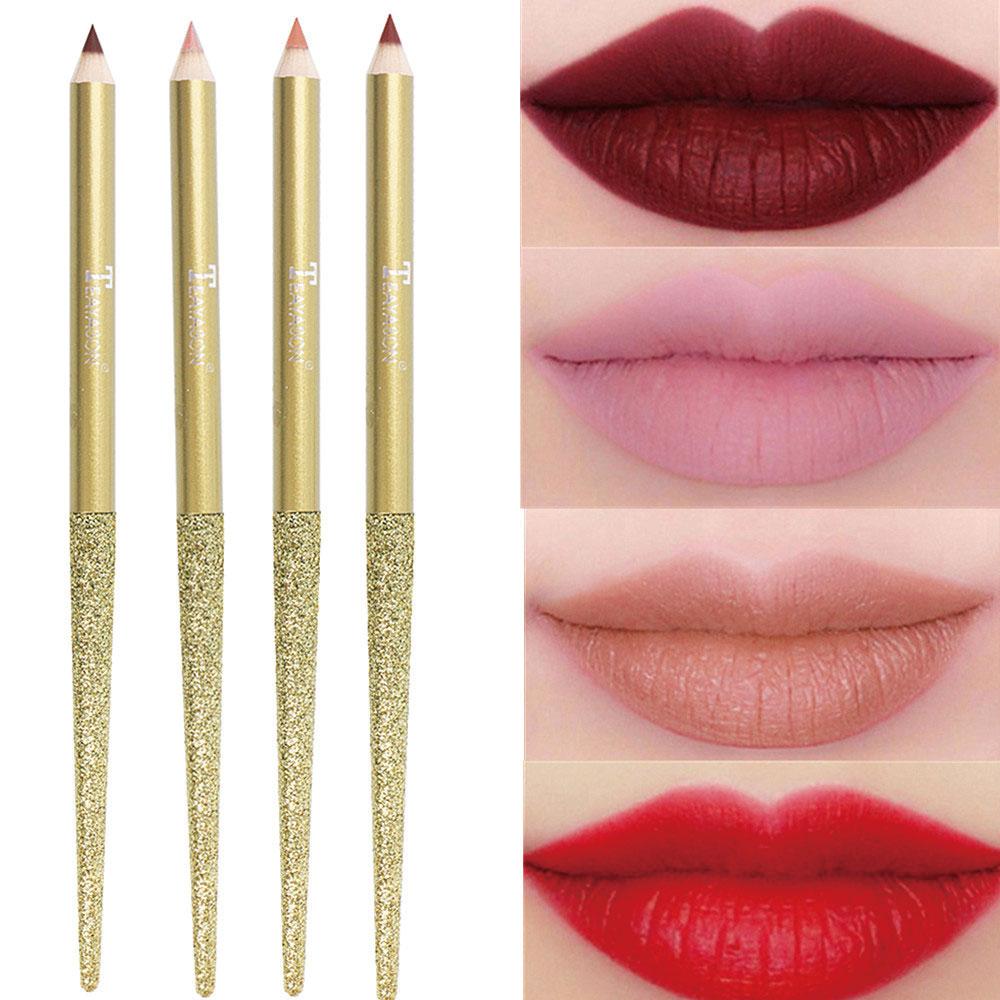 1 Uds. Lápiz Delineador de labios mate, duradero, impermeable, Color vampiro, Color tierra, rosa, naranja, rojo, lápiz labial