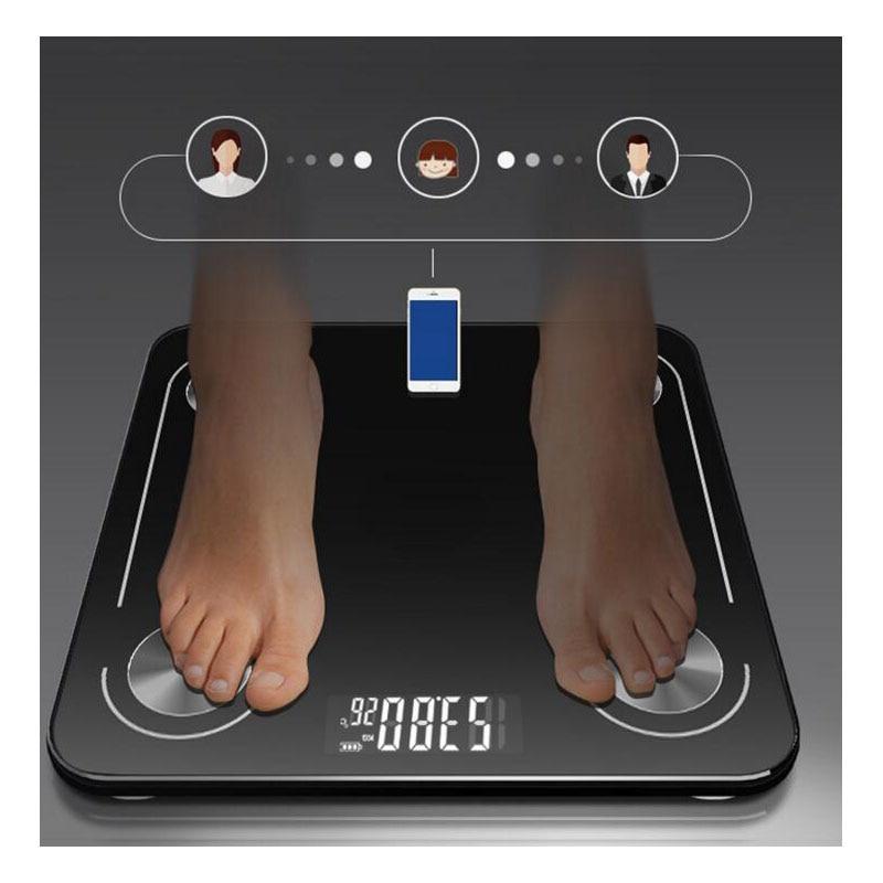 Новый Bluetooth iIntelligent весы для тела электронные взвешивания измерение жира здоровья
