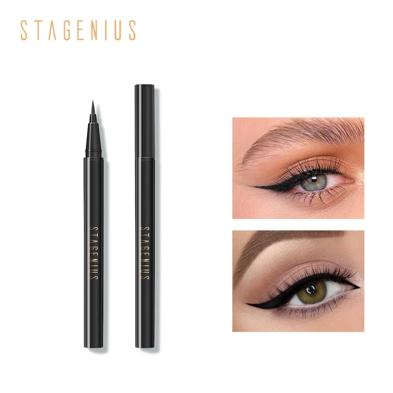 Stagenius líquido delineador caneta impermeável preto longa duração à prova de suor delineador profissional maquiagem ferramentas novo