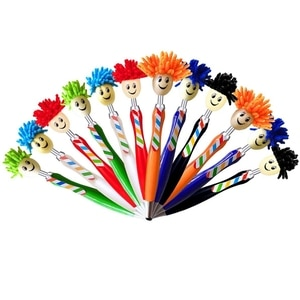Multifunction 3 in 1 Mop Topper Pen Stylus Pen Screen Cleaner for Kids and Adults (12 Pieces)