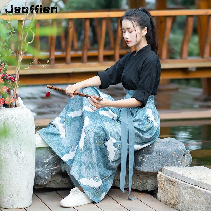 2020 mujer Hanfu chino tradicional traje Kimono japonés chica Anicent de la Dinastía Han ropa Cosplay princesa ropa