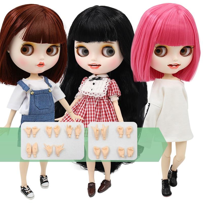 Fábrica ICY muñeca blyth cuerpo articulado bjd juguete personalizado muñeca desnuda con manos AB cara mate 1/6 30cm