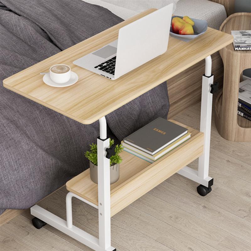 1 قطعة طاولة كمبيوتر محمول طوي المنقولة السرير مكتب متعدد الوظائف حامل كمبيوتر محمول رفع طاولة جانبية لغرفة المنزل (60x40 سنتيمتر)