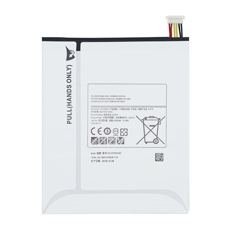 Original Tablet batería EB-BT355ABE para Samsung Galaxy Tab A 8,0 GALAXY Tab5 SM-T355 T355C T350 P350 P355C P355M T357W 4200mAh