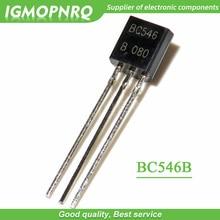 50 قطعة BC546B BC546 TO-92 الترانزستورات ثنائية القطب-BJT NPN 80Vcbo 80 veo 200mA 500mW Trans new original