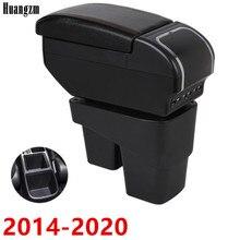 Caja de apoyabrazos para Honda Fit Jazz 2014-2020 2015 2016 2017 2018 2019 compartimento de almacenamiento Para brazo de consola central estilo de coche
