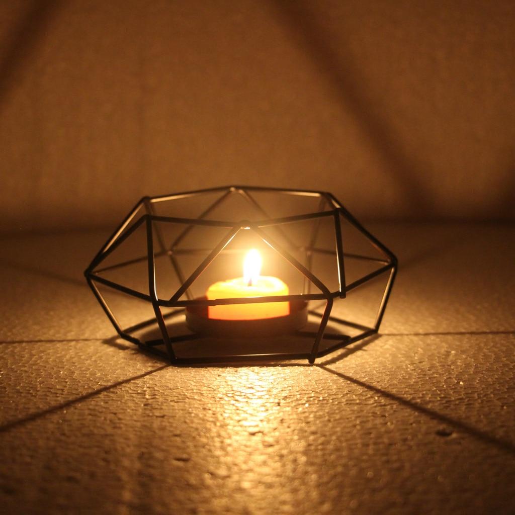 Nordic Retro Castiçal de Ferro Titulares Chá Luz Vela Titular Casa Decoração Candelabros Castiçal Lanterna Lâmpada Decoração Da Sua Casa