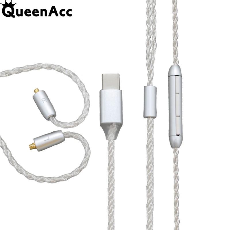 QueenAcc-Cable de auriculares DAC de alta fidelidad, 32bit, 8 Share, 3,5 MM,...