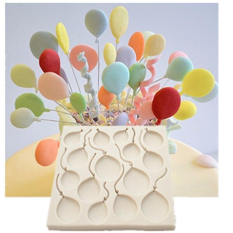 Силиконовая форма для мастики, воздушные шары на день рождения, кухонные аксессуары из смолы, кондитерские изделия для мастики, украшение т...