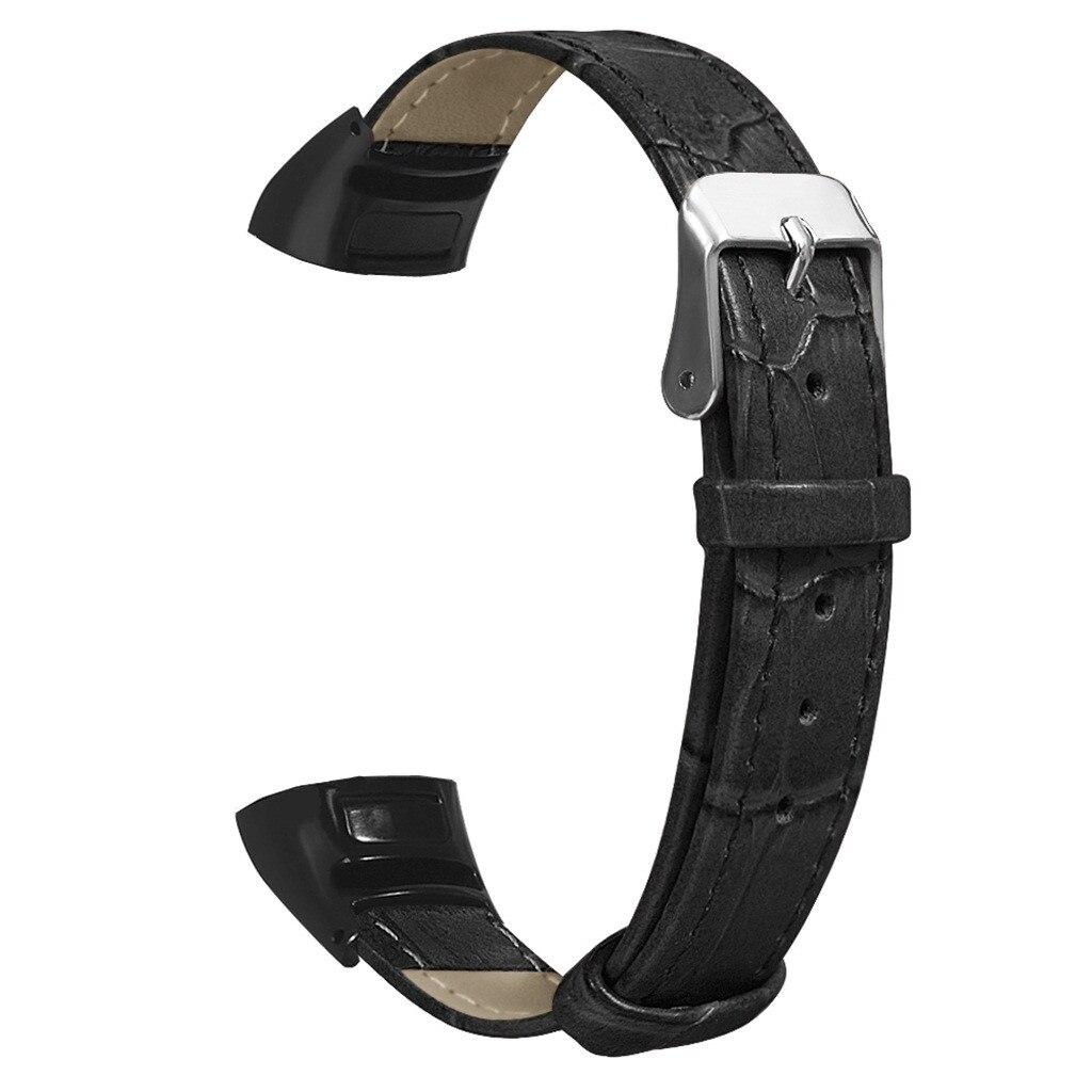 Pulsera inteligente banda de reloj de cuero de textura de bambú para Huawei Honor Band 5/4 suave reloj inteligente correa de muñeca Accesorios