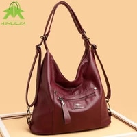 high quality womens soft leather shoulder bags fashion high capacity crossbody bag 2021 new luxury designer female backpack