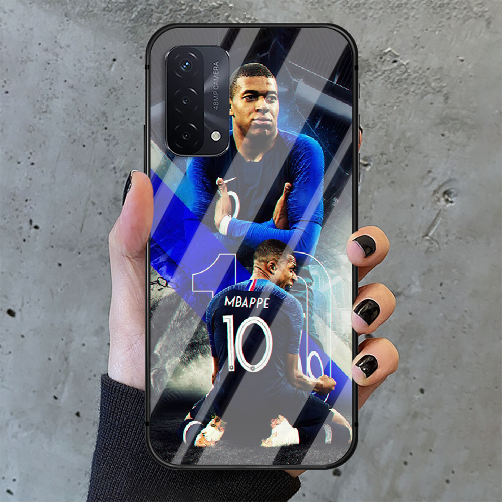 Kylian Mbappe football Phone Tempered Glass Case Cover For oppo realme find a x c xt gt 2 53 3 6 7 50 11 i Pro 4g 5g Trend  - buy with discount