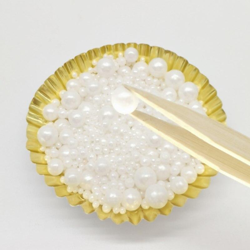 Bolas de azúcar de perlas blancas comestibles de 15g, bolas de azúcar para hornear pasteles DIY, bolas de dulces de azúcar, decoración de pasteles de boda, Envío Gratis