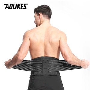 AOLIKES Waist Support Lumbar Belt back Brace bandage For Pain Relief posture corrector health Care gym fitness waist protector