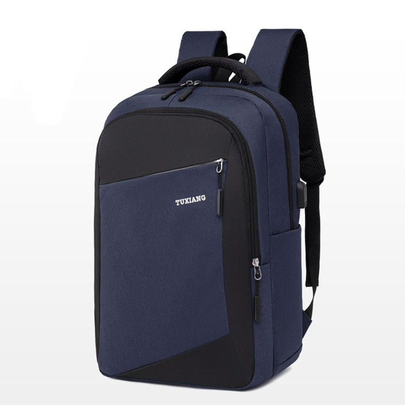 2021 New NANCY TINO Business USB Charging Backpack Travel Waterproof Casual 15.6in Laptop Bag