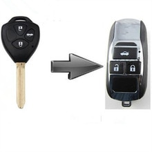 Carcasa de llave a distancia de coche plegable con tapa modificada en blanco envío gratis para Toyota Camry/Corolla 3 botones al mejor precio