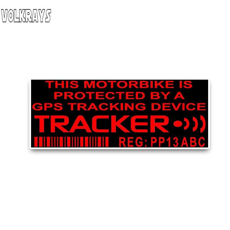 Vilkrays moda etiqueta do carro protegido por um gps tracker sistema de aviso acessórios reflexivo pvc decalque à prova dwaterproof água, 4cm * 11cm