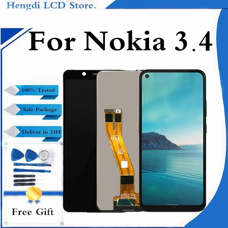 الأصلي LCD لنوكيا 3.4 عرض لنوكيا 3.4 LCD عرض تعمل باللمس محول الأرقام الجمعية مع أدوات