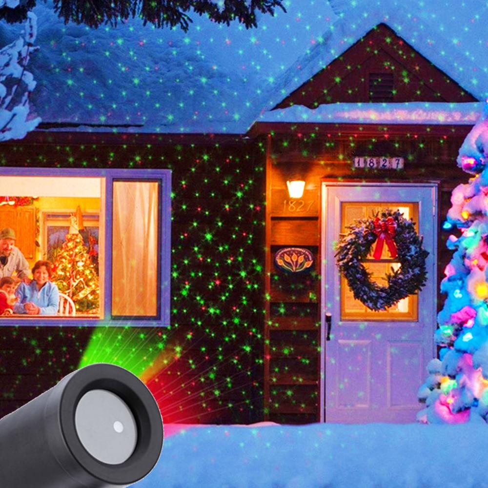 projetor a laser de natal ao ar livre a prova dwaterproof agua ceu estrela palco