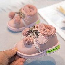 طفل الشتاء الأميرة أحذية أطفال 2019 جديد دافئ الاطفال أحذية الثلوج للأطفال عدم الانزلاق الكرز قلادة الفتيات طفل جميل الأحذية