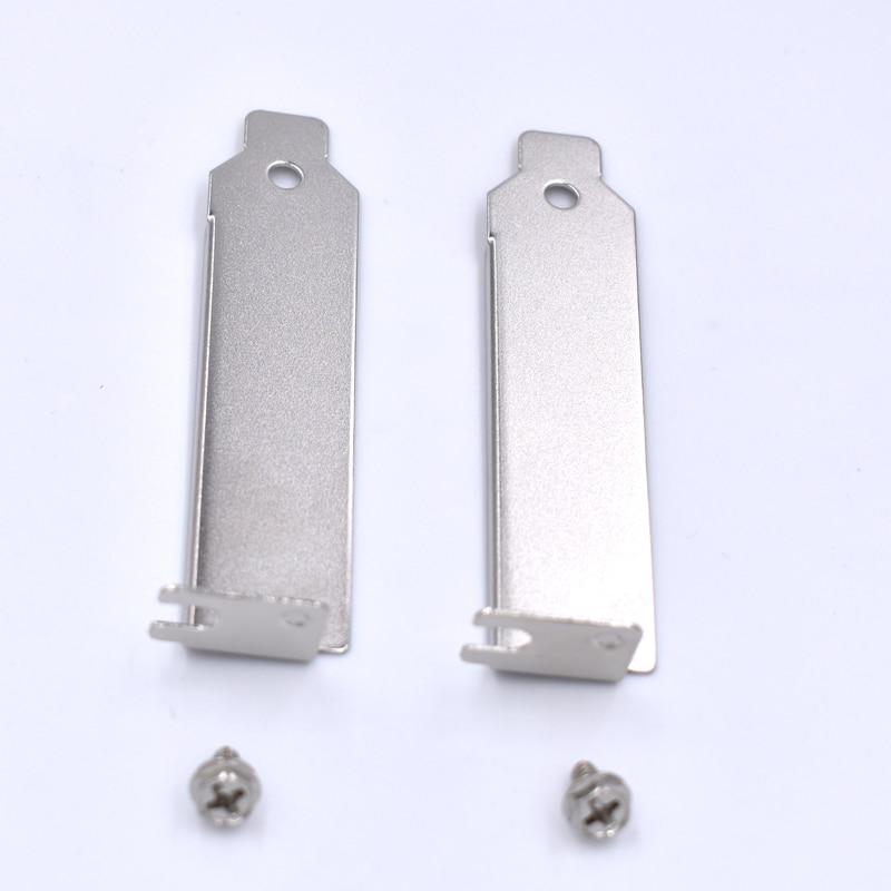 10 шт./лот низкопрофильный чехол ITX SFF задний слот PCI кронштейн 2U пустой наполнитель крышка пластина с винтом