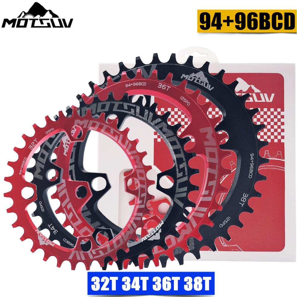 MOTSUV Oval 94 + 96mm 94BCD/96BCD 32/34/36/38T plato de bicicleta de montaña MTB para ALIVIO M4000 M4050 NX GX X1 piezas de bicicleta manivela