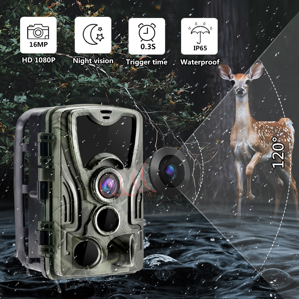 HC801A الصيد كاميرا تعقب الحياة البرية كاميرا مع للرؤية الليلية الحركة المنشط في الهواء الطلق كاميرا تعقب الزناد الحياة البرية الكشافة