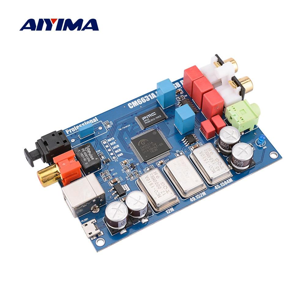 AIYIMA CM6631A واجهة رقمية 32/24Bit 192K كارت الصوت DAC USB إلى I2S/SPDIF الناتج المحوري ES9023 فك مستقلة