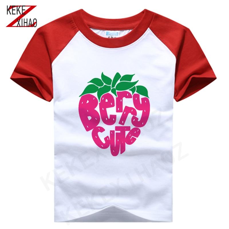 Summer Clothes Baby T-shirt Kids Short Sleeve t shirt Girls Top Boy Clothing Cotton T-shirt Baby Girl shirt Strawberry pattern
