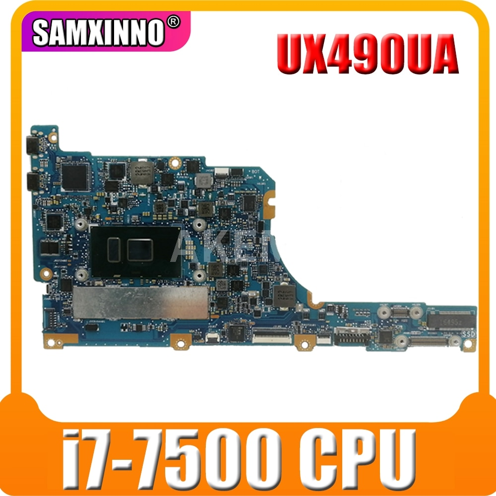 Placa base UX490UA, placa base para ordenador portátil UX490UA para Asus ux490uak ux490ua ux490U UX490, placa base UX490CA con i7-7500CPU