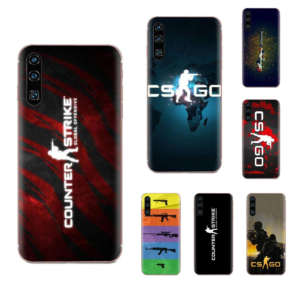 Funda de Capa blanda Counter Strike Cs Go para Huawei Honor 4C 5A 5C 5X 6 6A 6X 7 7A 7C 7X 8 8C 8S 9 10 10i 20 20i Lite Pro