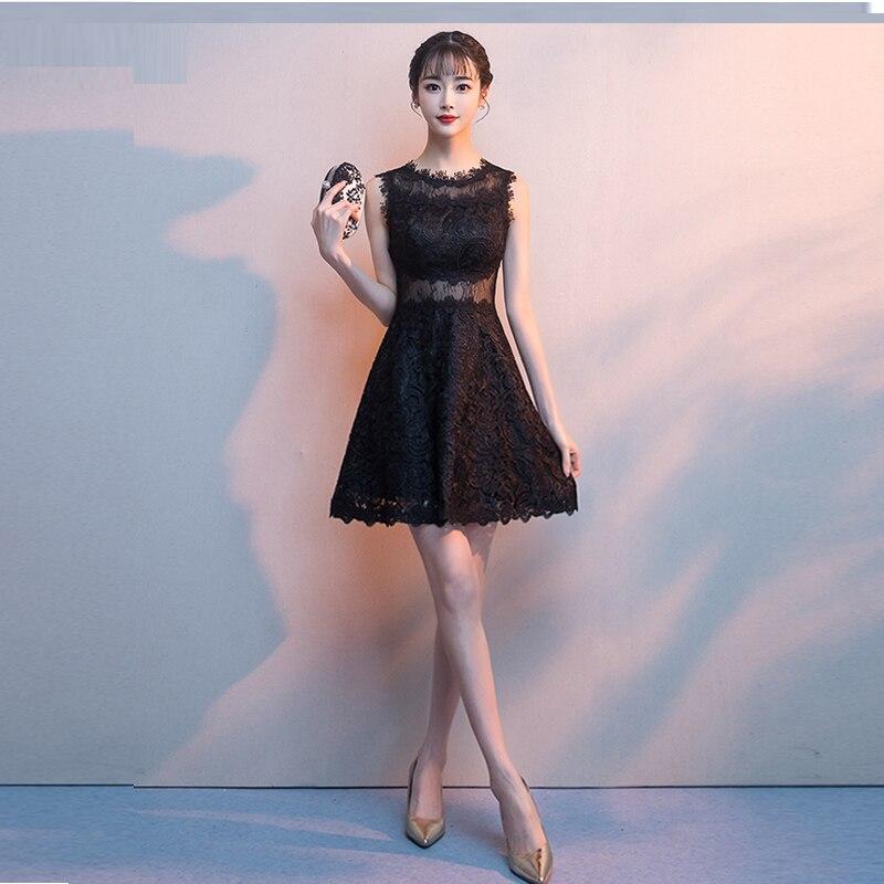 فستان إشبينة العروس قصير من الدانتيل الزهري للنساء ، متزلج من الشيفون ، فستان سهرة ، فستان زفاف صغير