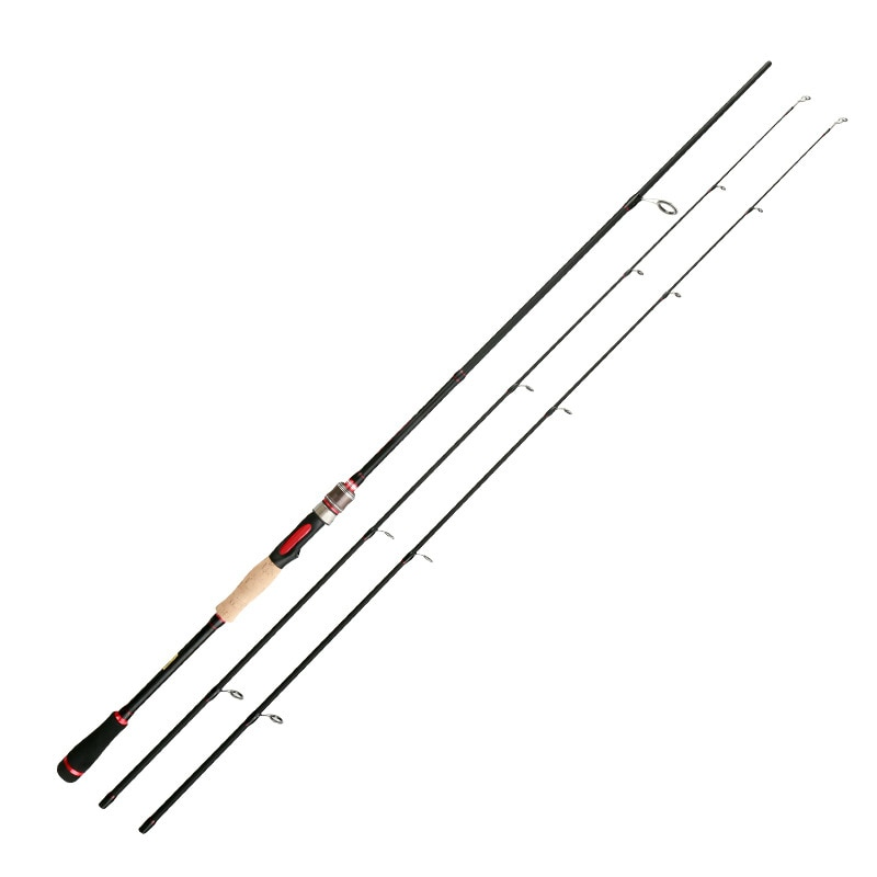 High Quality 2021 New 1.8m 2.1m 2.4m Spinning Fishing Rod 2 Tips ML/M Power 3 Sec Carbon Rod Spinning Casting Rod Fishing Tackle