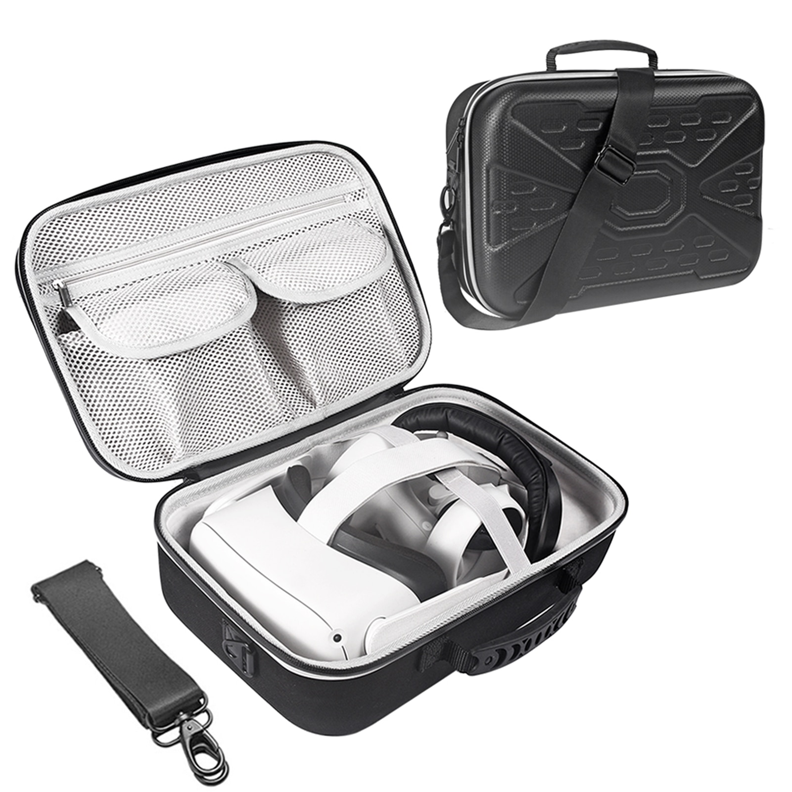 New EVA Hard Travel Protect Box Storage Bag Carrying Cover Case For Oculus Quest 2/Oculus Quest All-in-one VR And Accessories недорого