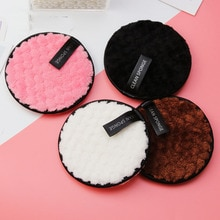 Microfiber Cloth Pads Remover Face Cleansing Towel Reusable Cleansing Makeup Sponge Double Layer Nai