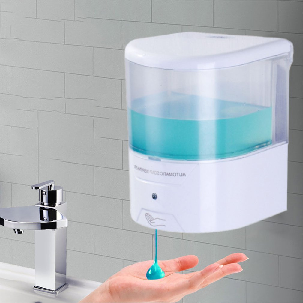 Automatic Touchless Sensor Soap Dispenser Bathroom Vacuum Stick Soap Dispenser Bathroom Suction Cup Wall Attachment enlarge