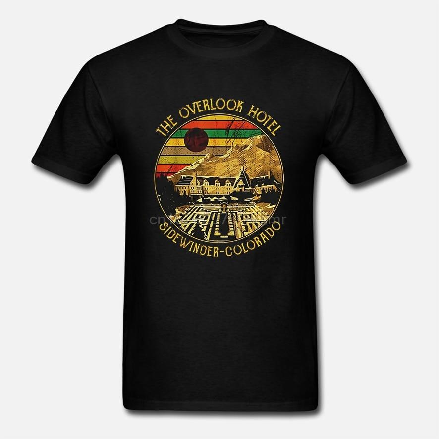 Camiseta divertida de los hombres camiseta de moda el Overlook Hotel Sidewinder Colorado versión Vintage de las mujeres camiseta