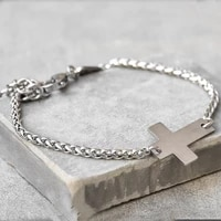high quality stainless steel cross pendant bracelet for men fashion classic cross bracelets men accessories jewelry gifts
