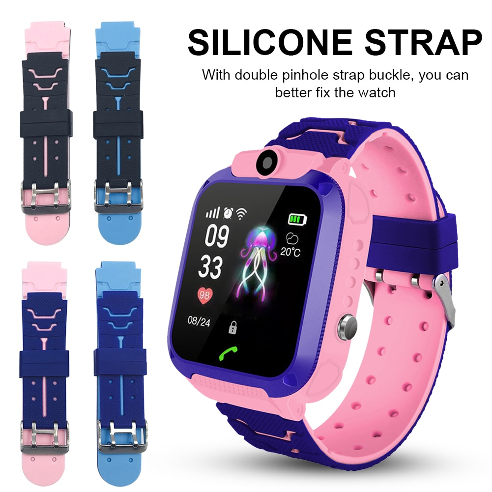 Children's Smart Wristband Replacement Silicone 16mm 5G Wrist Strap For Kids Two-Color Smart Watch