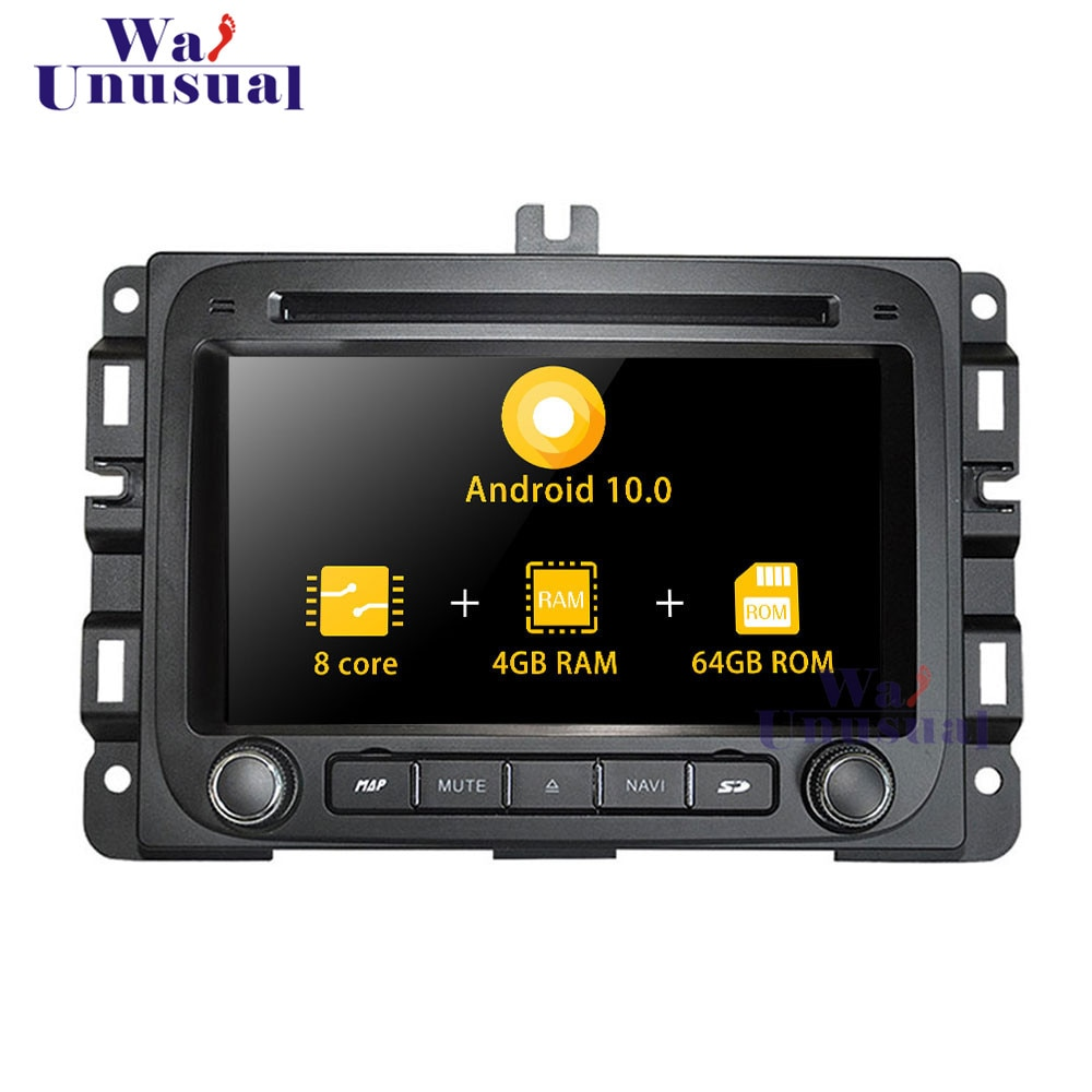 WANUSUAL 7 pulgadas Android 10,0 GPS para coche de navegación para Dodge RAM1500 (2014-), DVD reproductor de CD Radio Centro de Medios 1 Din Video Octa Core