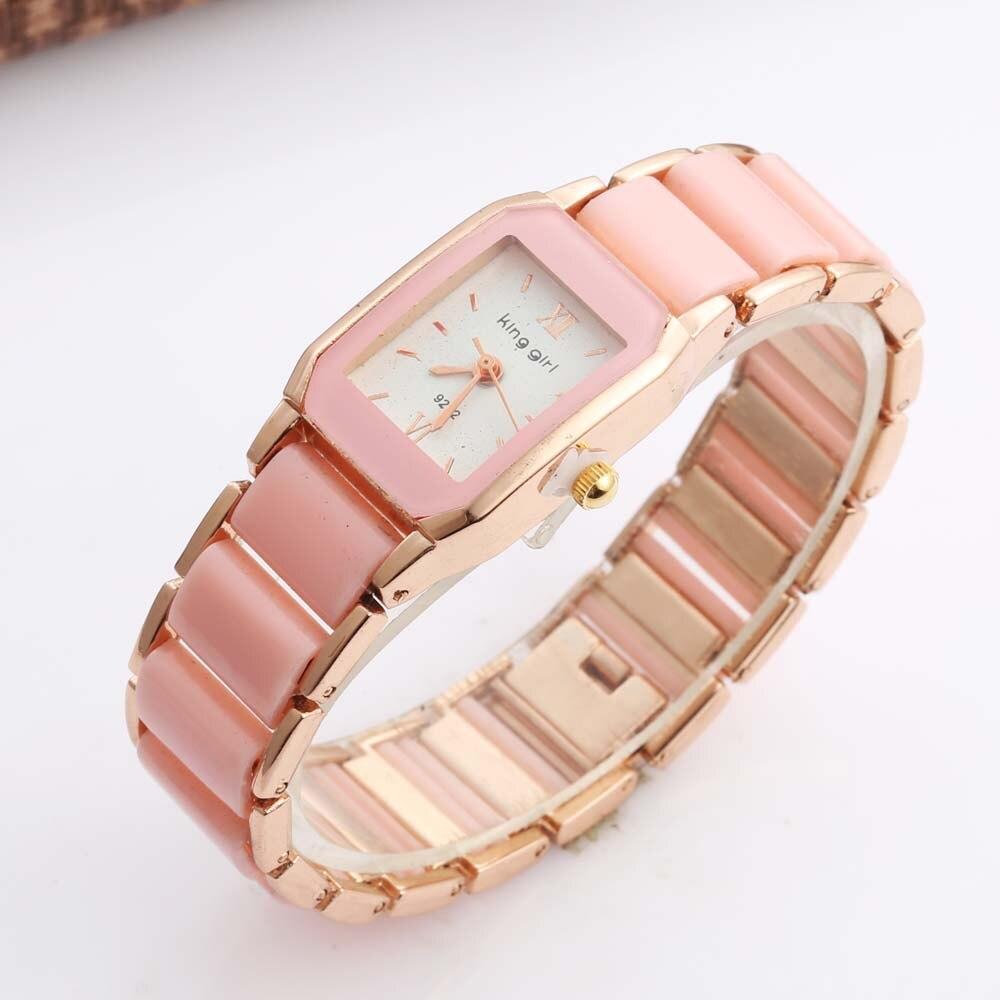 New 2018 Korean Mini Watches Women Cute Pink Quartz Watch Women Rectangle Watches Geneva relogio feminino bayan kol saati