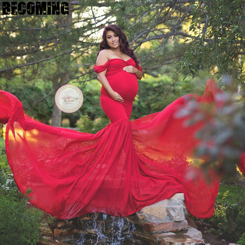 Maternity Dresses For Photo Shoot Maternity Photography Dress Props Maxi Dresses For Pregnant Women Clothes Pregnancy Dress enlarge