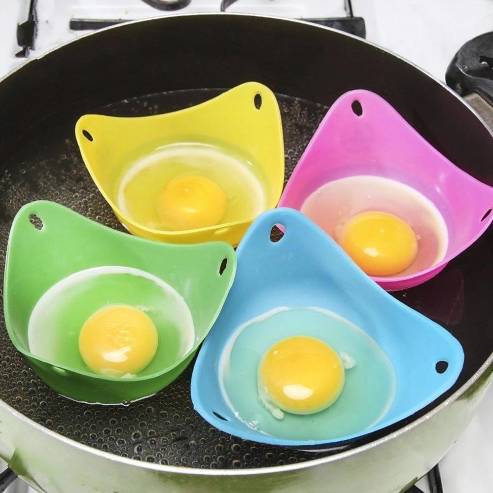 4 unids/lote de huevo de silicona cazador Caza Vainas Pan molde huevo...