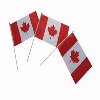 100 polyester hand waving flag1421cm canada country flagmini size hand flag in high quality