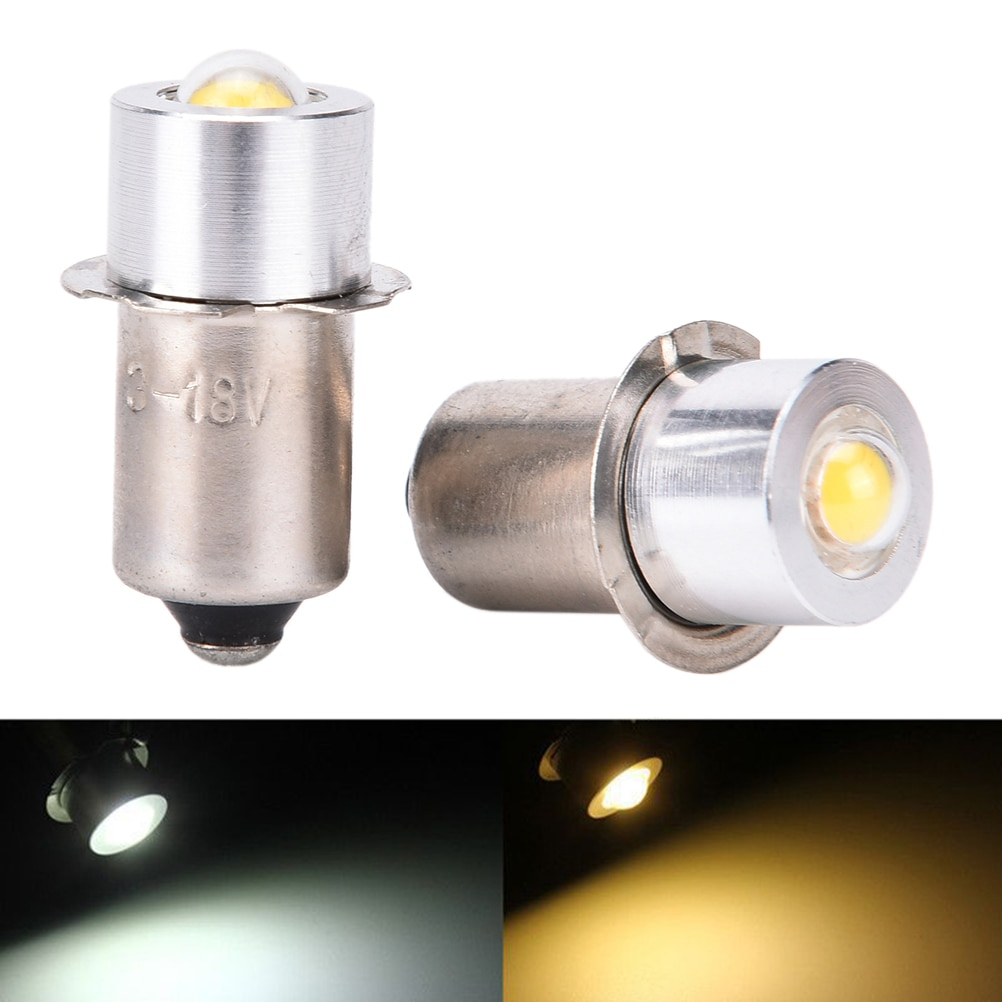 90 lúmenes P13.5S PR2 1W LED linterna DC3-18V alto brillo cálido/blanco puro para bicicleta Interior antorcha bombilla